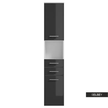 Badschrank CRANSTON weiß / graphitgrau