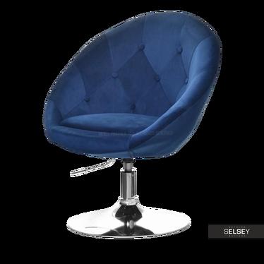 Drehstuhl LOUNGE III dunkelblau Velvet