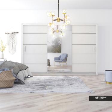 Kleiderschrank DOVELO mit Spiegel 250 cm