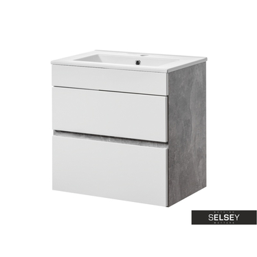 Waschbeckenunterschrank PUEBLA mit 2 Schubladen 60 cm