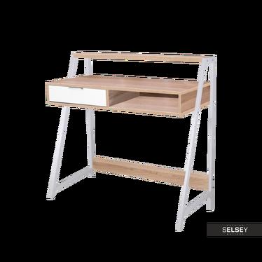 Schreibtisch VORDE weiß/Eiche