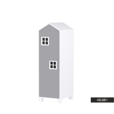 Kinderzimmerschrank VESPE grau 126 cm hoch