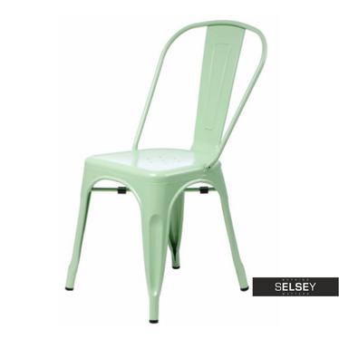 Stuhl PARIS pastellgrün Tolix Design