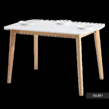 Esstisch BELEN weiß/Eiche 120x75 cm