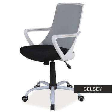 Schreibtischstuhl GENNER grau höhenverstellbar mit Drehfunktion