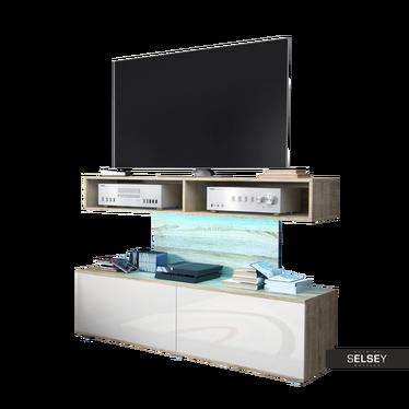 TV-Lowboard SEZEM mit LED-Beleuchtung 140 cm