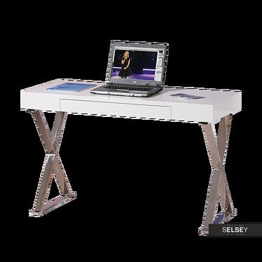 Schreibtisch KROSY in hochglänzendem Weiß