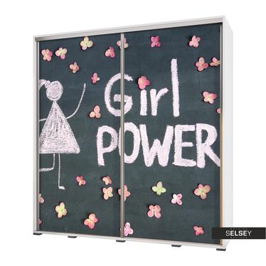 Kleiderschrank VENEDIG 205 cm Tafelzeichnung Girl Power