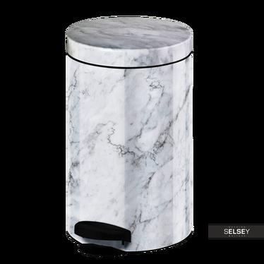 Mülleimer NEW LINE 14L weiß Marmor