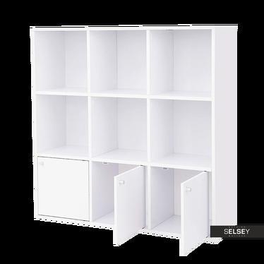 Standregal ACACION weiß 3x3 mit Türen
