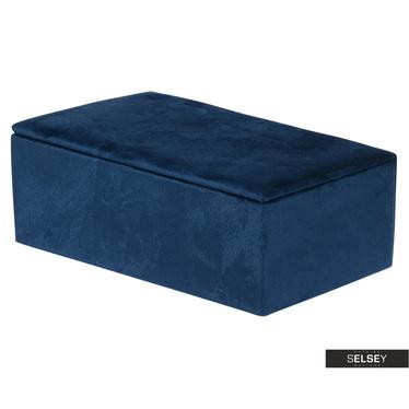 Schmuckkästchen ELDUIN dunkelblau 20x12x7 cm