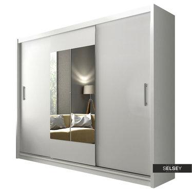 Kleiderschrank HERZASS Schwebetürenschrank 250 cm optional mit LED