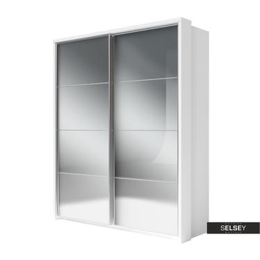 Kleiderschrank LUGAROS 180 cm mit Spiegelfront