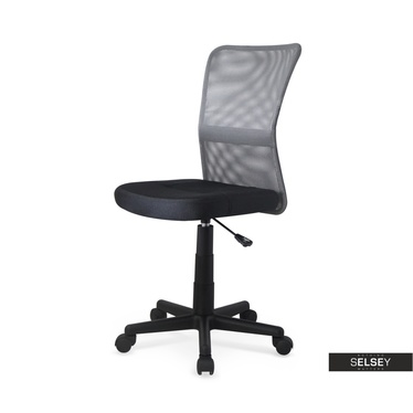 Schreibtischstuhl für Kinder MILNA aschgrau/schwarz