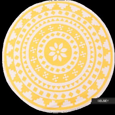 Teppich OUTDOOR RAINBOW gelb 150 cm rund
