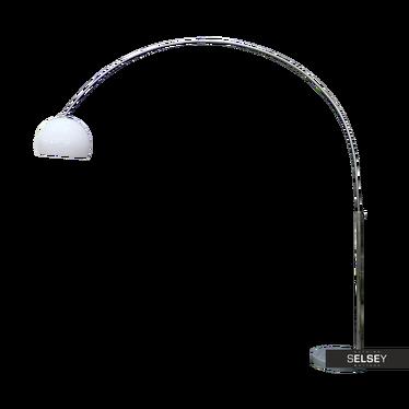 Stehlampe HUDSON Bogenlampe mit weißem Lampenschirm
