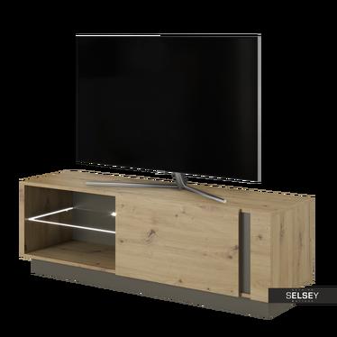 TV-Lowboard SKOKY Eiche/ Schwarzgrau 138 cm
