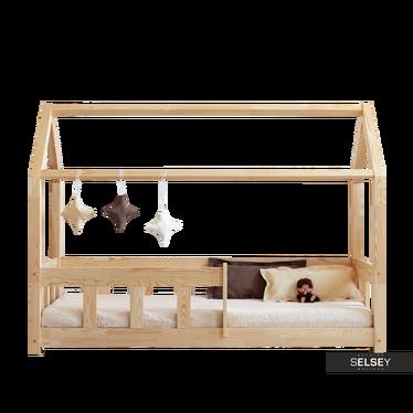 Kinderbett MALLORY aus Kiefernholz mit Rausfallschutz