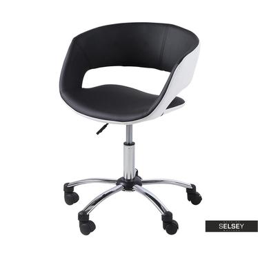 Bürostuhl HANNAH Schwarz/Weiß mit Kunstlederbezug