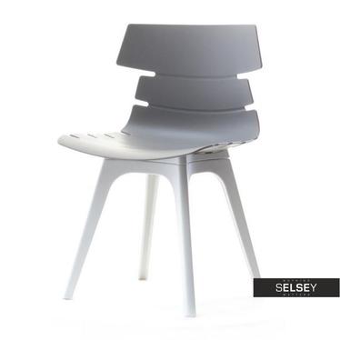 Kunststoffstuhl ZAC DSX grau/weiß