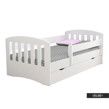 Kinderbett PAMMA in Weiß mit Rausfallschutz