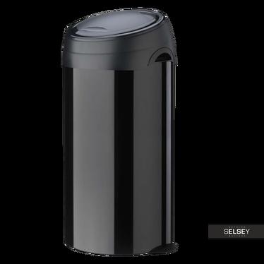 Mülleimer SOFT TOUCH 60L Stahl schwarz