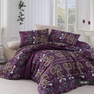 Bettwäsche FOLKEEN 200x220 cm mit zwei Kissenbezügen 50x70 cm