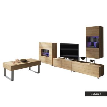 Wohnzimmer-Set KIRDON 5-tlg. mit Sideboard und Couchtisch