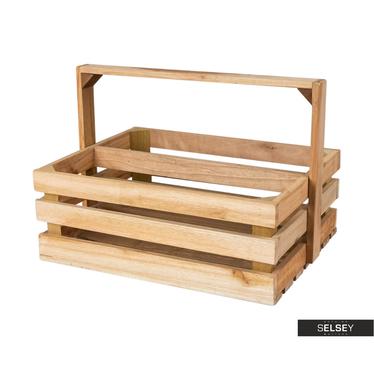Holzkiste LUCYPIO mit Griff zweigeteilt