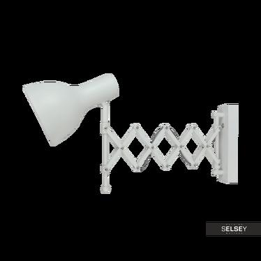 Wandlampe VENTUS Scherenlampe weiß aus Metall