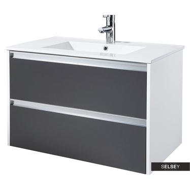 Waschbeckenunterschrank ANTARI Grahpitgrau 80 cm breit