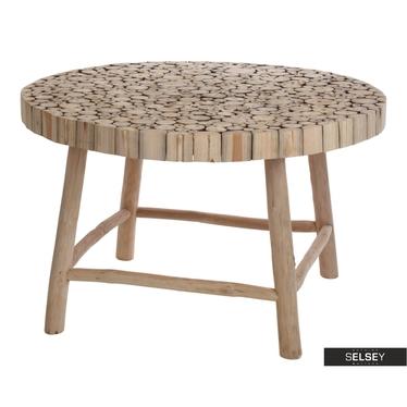 Gartentisch TEAK 75 cm aus Teakholz