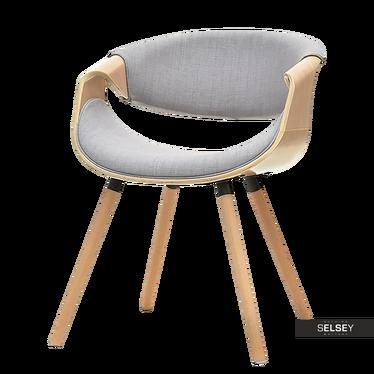 Stuhl BENTIAL Eiche/grau