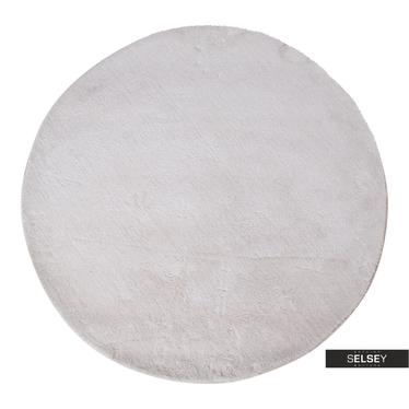 Teppich BRIDIN Kreideweiß rund 120 cm