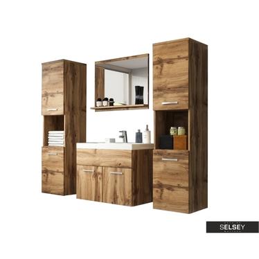 Badmöbel-Set SILLALI 5-teilig mit Waschbecken