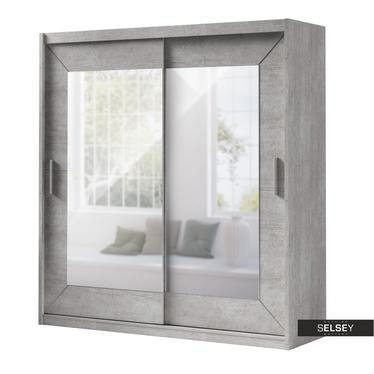 Kleiderschrank ALFA 2-türig mit Spiegel