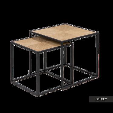 Beistelltisch-Set BONOR 44x44 cm und 38x38 cm