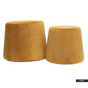Pouf-Set CLEMENSIA honigfarben