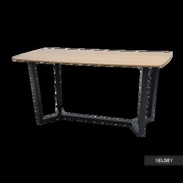 Esstisch LANDET Eiche/schwarz 160x90 cm