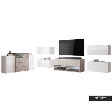 Wohnzimmer-Set GALZAK mit Sideboard