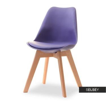Stuhl LUIS WOOD violett/Buche
