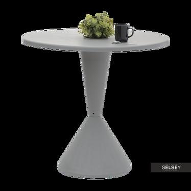 Tisch DISK in Grau mit Vertiefung für Blumentopf, 80 cm