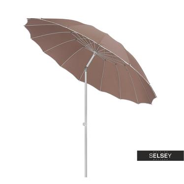 Sonnenschirm regulierbar 240 cm braun