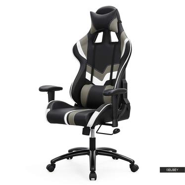 Gaming Stuhl MANJARAN DUST schwarz/grau/weiß