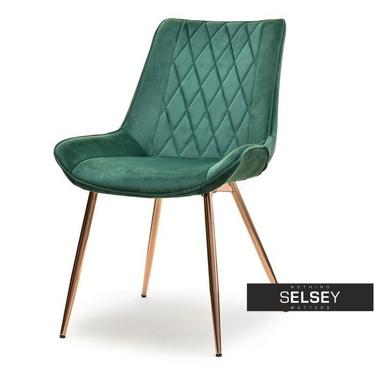 Stuhl ADEL grün/Kupfer
