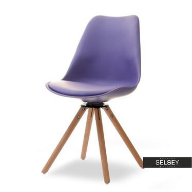 Drehstuhl LUIS ROT violett/Buche