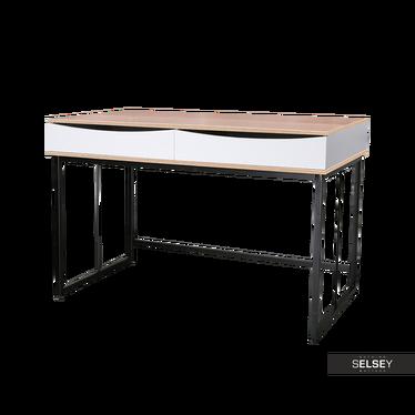 Schreibtisch SKALS weiß/Eiche