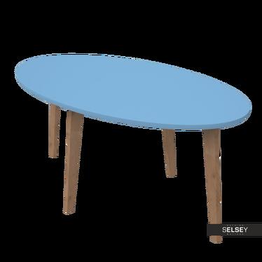 Beistelltisch NORNIELLE blau oval
