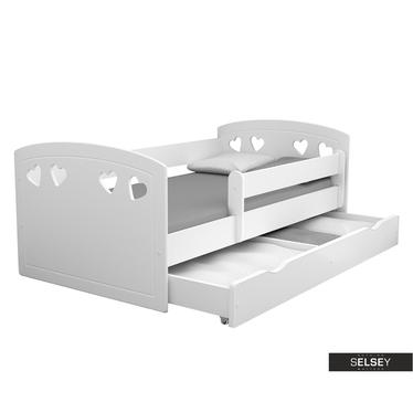 Kinderbett DERATA in Weiß mit Rausfallschutz