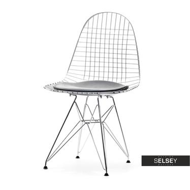 Krzesło MPC Wire Rod Chrom industrialne